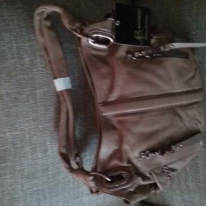 Glove Leather Pocket Shopper w/Chain Detail & Case